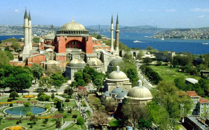 The Hagia Sophia mosque in Istanbul was formerly the holiest church of the Orthodox faith, built in 537. The Hagia Sophia went from being a church to a mosque in 1453 when Constantinople was conquered and became Istanbul.