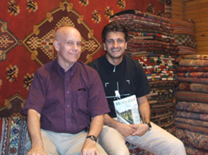 A man I met that day. He was from the Middle East and sold rugs in the large central market I visited with my friends.