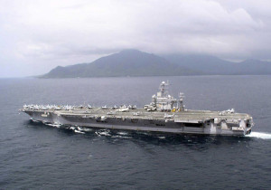The USS Abraham Lincoln, a US Navy aircraft carrier that provided critically essential services to Aceh province, Indonesia, in the immediate aftermath of the 2004 Tsunami that devastated the area