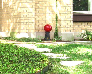 Red ball in yard-small