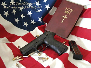 gun & Bible picture