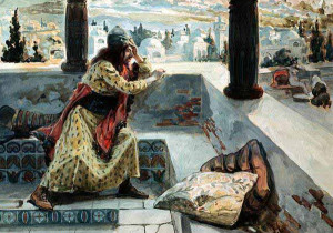 David sees Bath- Sheba Bathing James Tissot (1836-1902 French) Jewish Museum, New York, USA