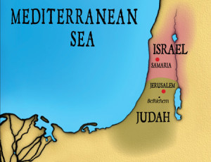 Israel & Judah map 4 blog post