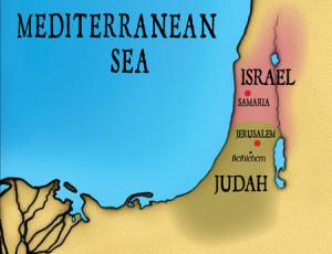Israel & Judah map 4 blog post