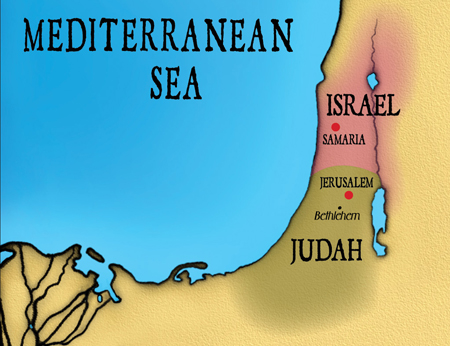 map of israel divided kingdom pdf