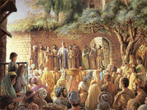 The Apostle Peter, speaking to the crowd in Jerusalem on the day of Pentecost