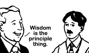 wisdom is art-flattened