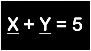 X plus Y underlined flattened