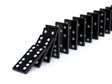 dominoes falling