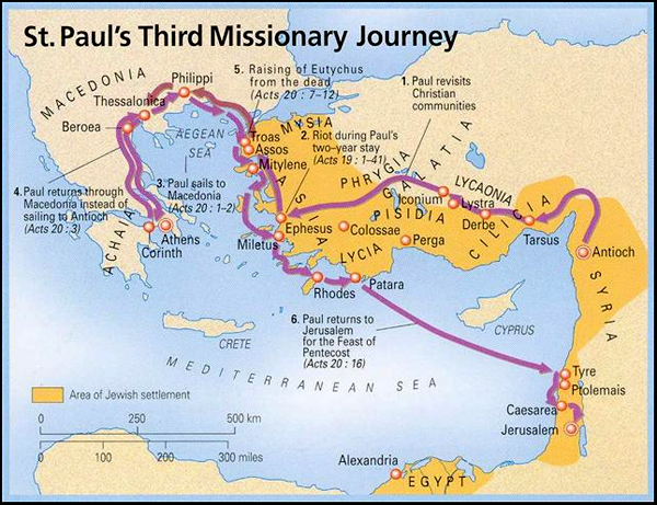 map of third missionary journey