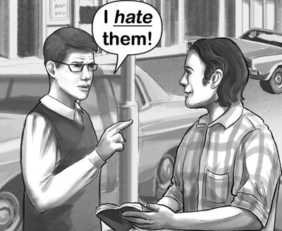 I hate them-2 flat