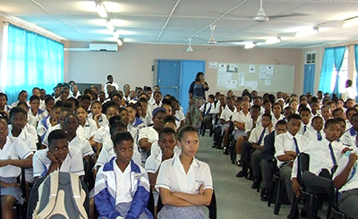 Durban school crowd scene