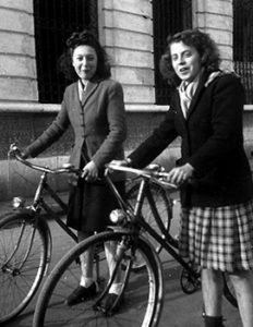 french women on bicycles